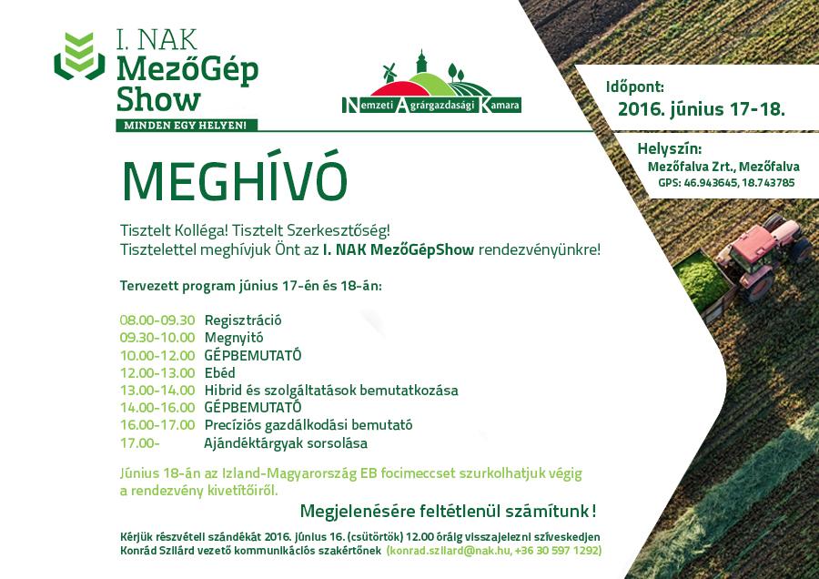 Mezőgépshow programja